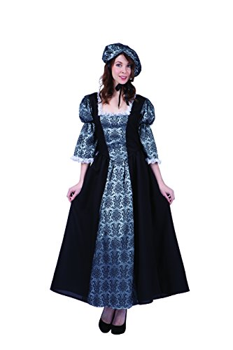 Costumes Colonial Adult Lady (RG Costumes Women's Colonial Lady Charlotte, Black/Silver,)