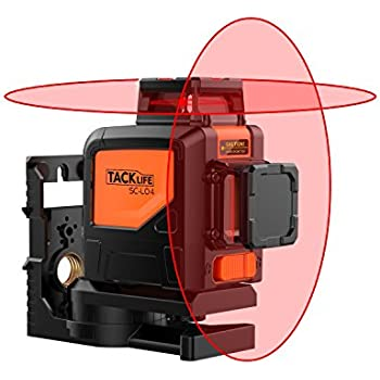 Tacklife SC-L04 Professional 98Feet Cross Line Laser Self-Leveling 360-Degree Vertical and 360-Degree Horizontal Line with Magnetic Pivoting Base,Carrying Pouch,2 Full-time Pulse Modes Battery Include