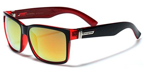 Square Retro Sunglasses Mirror Lenses