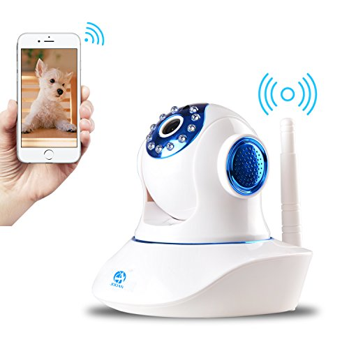JOOAN Security Camera 2.4G WiFi Supports 2 Way Talk and Remote for Home Surveillance (HD1080P WiFi Camera) by JOOAN