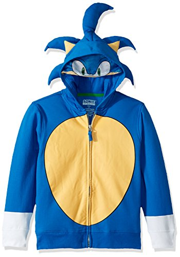 SEGA Kids' Little Sonic The Hedgehog Costume Hoodie, Royal, 7 -