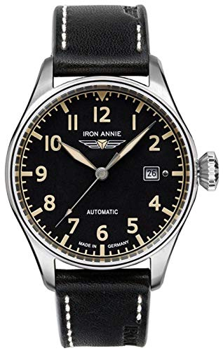 Iron annie Cockpit Mens Analog Automatic Watch with Leather Bracelet 5162-2 ()
