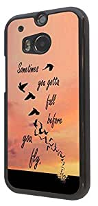 Sometime You Gotta Fall Before you fly Cool Sunset Design Fashion Trend BLack CASE Back COVER For All iphone 4 4S , iphone 5 5S , iphone 5C , Sony Xperia Z1 , Xperia Z2 , Sony Xperia Z1 compact /Mini htc one M7 ,htc one M8 Samsung Galaxy S3 , Galaxy S4 , galaxy S5 , Galaxy S3 mini , Galaxy S4 mini Case Back Cover-Select your phone model from the drop box under (htc One M7) by icecream design