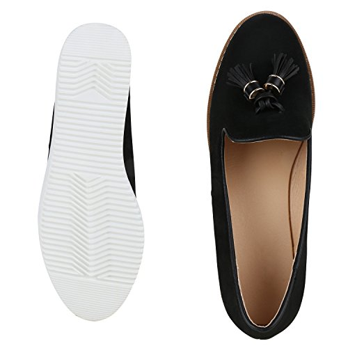 napoli-fashion - Mocasines Mujer negro