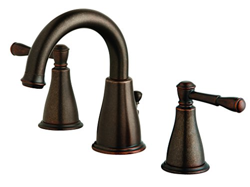 (Danze D304115BR Eastham Two Handle Widespread Lavatory Faucet, Tumbled Bronze)