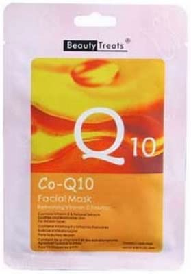 6 Pack) BEAUTY TREATS Facial Mask Refreshing Vitamin C Solution - Co-Q10: Amazon.es: Belleza
