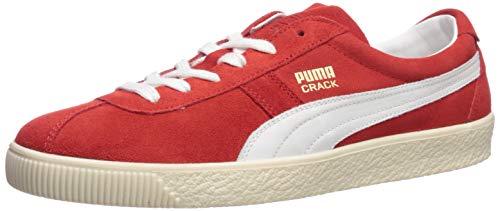 - PUMA Men's Crack Heritage Sneaker, High Risk Red White, 7 M US
