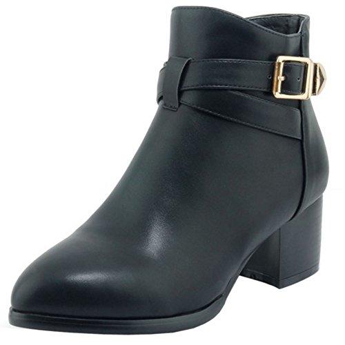 Autumn KemeKiss Booties Black Zipper 2 Women UU58qxrv