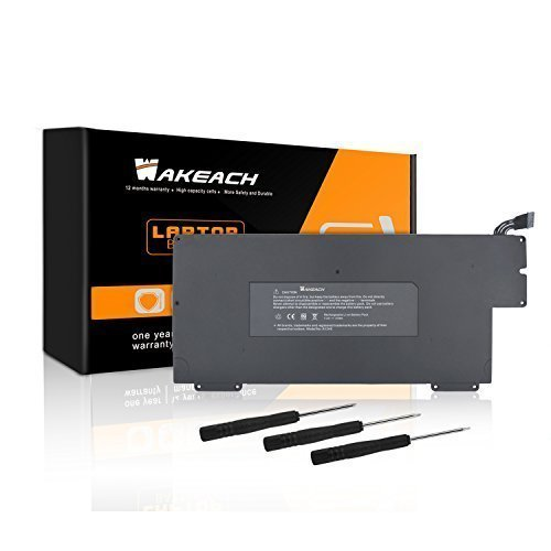 Wakeach A1245 Laptop Battery for Apple A1304 A1237 MacBook Air 13-inch (Only for 2008 2009),fits MB003 MC233 MC234 MC503 MC504,661-4587 661-4915 661-519 -12 Months Warranty [Li-Polymer 5200mAh/37Wh] Lion Rechargeable Batt