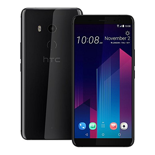 HTC U11 Plus (2Q4D100) 4GB / 64GB 6.0-inches Dual SIM Factory Unlocked - International Stock No Warranty (Ceramic Black)