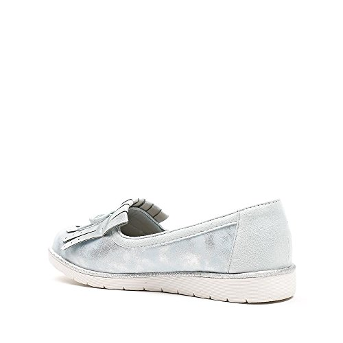 Ideal Shoes, Damen Slipper & Mokassins Blau