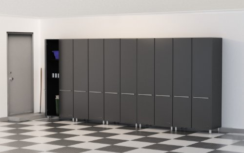 "Ulti-One of a pair Storage 5-Piece Kit - GA-065 - 5-Piece Tall Cabinet Package Provides A Tower Of Power Of Oversized Storage Organization And Style - Custom Shop Radius Cabinet Profile And Balanced 3/4"" MDF And PB Cabinet Construction - 3/4"" Shelves With"