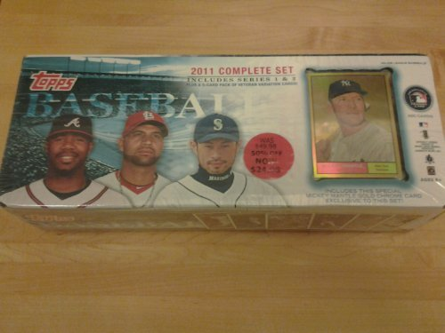 2011 Topps Baseball Factory Set With Mantle Gold Chrome Card, 5 Veteran Variation Cards by Trading Cards