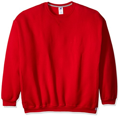 (Russell Athletic Men's Dri Power Fleece Crewneck Sweatshirt, True Red, 4X-Large)
