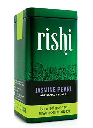Rishi Tea Organic Jasmine Pearl Loose Leaf Tea, 3.00 Ounces Tin