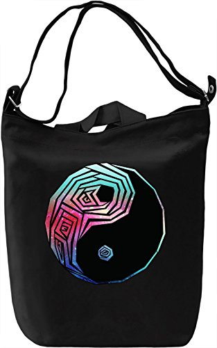 Galaxy Yin and yang Borsa Giornaliera Canvas Canvas Day Bag| 100% Premium Cotton Canvas| DTG Printing|