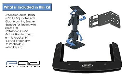 Padholdr Social Series Premium Tablet Dash Kit for 2005-2013 Toyota Tacoma