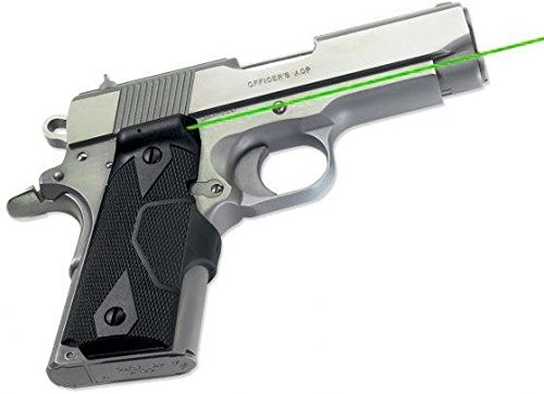 Crimson Trace Front Activation Green Lasergrips 1911 Compact - LG-404G by Crimson Trace (Image #1)