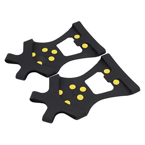 Florenceenid Compact 10 Studs Zapatillas Antideslizantes para Nieve Cubiertas duraderas Pinzas para Pinchos Pinzas para...