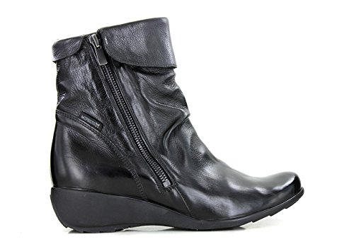 UK Lea 5 boot 3 black Women women's Foundation Black in ankle Seddy leather 615 7900 Mephisto Foot O6RaqpqT
