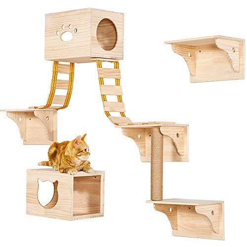 TINTON LIFE Wall Wood Cat Climber Set Review