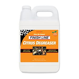 Finish Line Citrus Degreaser Bicycle Degreaser, 1 Gallon Jug