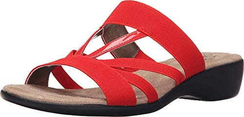LifeStride Womens Tanner Open Toe Casual Slide Sandals, Poppy, Size 6.0 -