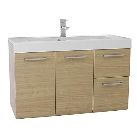 Inch Bathroom Vanity Set Natural Oak Amazoncom - 38 inch bathroom vanity