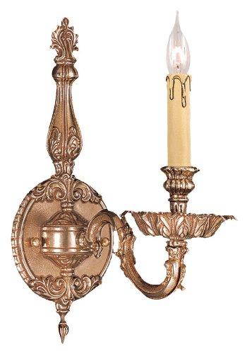 Sconce 1 Novello Light (Crystorama 2401-OB, Novella Candle Wall Sconce Lighting, 1 Light, 60 Total Watts, Brass)