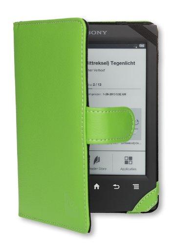La funda Sony PRS T2/T1 de Gecko Covers de color verde para la ...