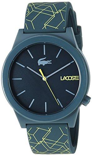Lacoste Men's 'Motion' Quartz Plastic and Silicone Watch, Color:Black (Model: 2010958)