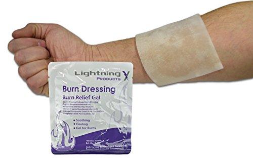 Facial Burns Sterile - Lightning X Cooling Burn Relief Gel 4