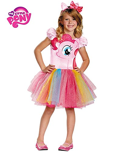 Disguise Hasbro's My Little Pony Pinkie Pie Tutu Prestige Girls Costume, Small/4-6x -