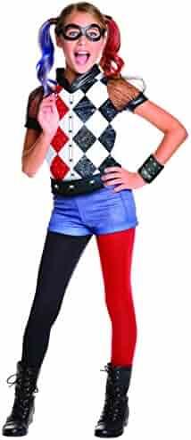 Rubie's DC Superhero Girl's Harley Quinn Costume, Medium