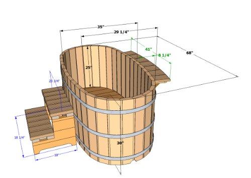 Amazon.com : Japanese Wood Ofuro Soaking Tub For 2   Wood Fired Heater :  Patio, Lawn U0026 Garden