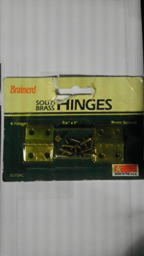 (Brainerd 4 Solid Brass Hinges 3/4