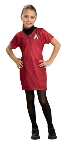 Romulan Costume For Sale (Star Trek Movie Child's Deluxe Red Dress with Emblem Pin, Large)