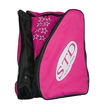 STD SKATES Mochila para patines Nylon con bolsillos laterales para los patines y espacio central para la ropa y protecciones. (rosa): Amazon.es: Deportes y ...