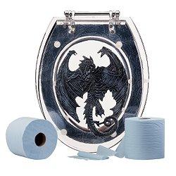 Amazon Com Medieval Dragon Toilet Seat Gothic Throne