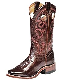 Boulet Western Boots Womens Cowboy Leather Italian Lamb Brown 8043