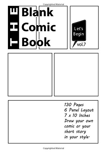 Blank Comic Book (Blank Comic Book 7 x 10 inches, 130 Pages) (Volume 7)