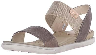 Ecco Footwear Womens Damara Ankle Gladiator Sandal, Warm Grey, 35 EU/4-4.5 M US