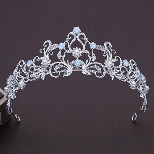 Crown Of Light Diamond - Unique Light Blue Crystal Bride Bridesmaid Crown Tiara Diadem Princess Crown Rhinestone Crown Pageant Wedding Hair Accessories Bridal Headdress
