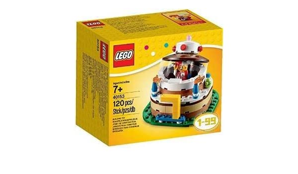 Amazon Overseas Limited Lego 40153 Birthday Decoration Cake Set 120 Piece Parallel Import Goods Toys Games