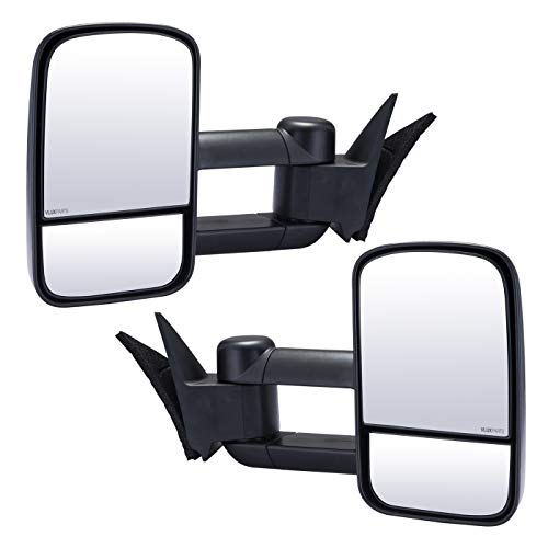 Chevy Tow Mirror Pickup Towing Mirrors Manual Adjusted Folding Manually Telescoping Left Right Driver Passager Side Rear View Pair for 1988-1998 Chevy Suburban C1500 C2500 C3500 GMC Yukon Tahoe