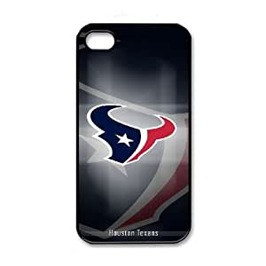 NFL iPhone 4 4s Black Cell Phone Case Houston Texans PNXTWKHD2537 NFL Phone Case Cover Unique Plastic