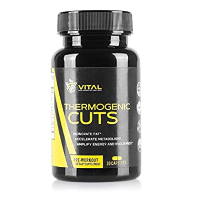 Vital Thermogenic Cuts - Weight Loss Supplement: Burn & Lose Belly Fat with Natural, Herbal Fat Burners - Body Management Tool, Metabolism Booster, Energy Amplifier: 30 Fast Fat Burner Veggie Caps