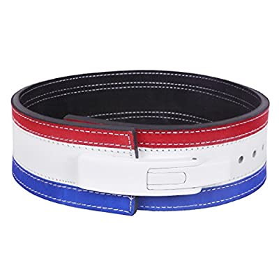 Hawk Lever Belt Tri Color USA FLAG Powerlifting Belt 10mm Weightlifting Belt TOP QUALITY HAND-CRAFTED, 1 YEAR WARRANTY!!!