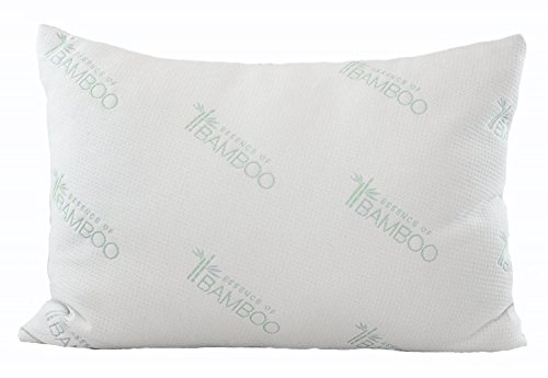 Relax Home Poly Fiber Filled Bamboo Cover Queen Pillow for Hypoallergenic and Dust Mite Resistant