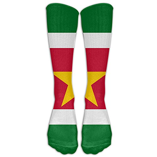 Suriname Flags Of Countries Unisex Sports Socks Tube Socks Knee High Compression Sports Athletic Socks Tube Stockings Long (Country Kids Soccer Bootie)